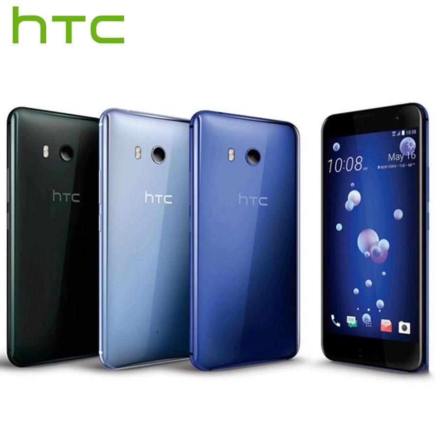 Original Brand New HTC U11 4G LTE Mobile Téléphone Snapdragon 835 OctaCore IP67 4 GB + 64 GB 2560x1440 p 16MP 3000 mAh 5.5 pouces Smartphone
