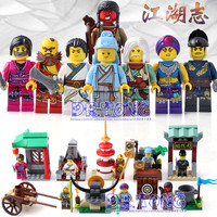 DR.TONG 80PCS/LOT 1504 New Enlighten Figures One of China Romance the Three Kingdoms Figures Heroes Building Blocks Toys