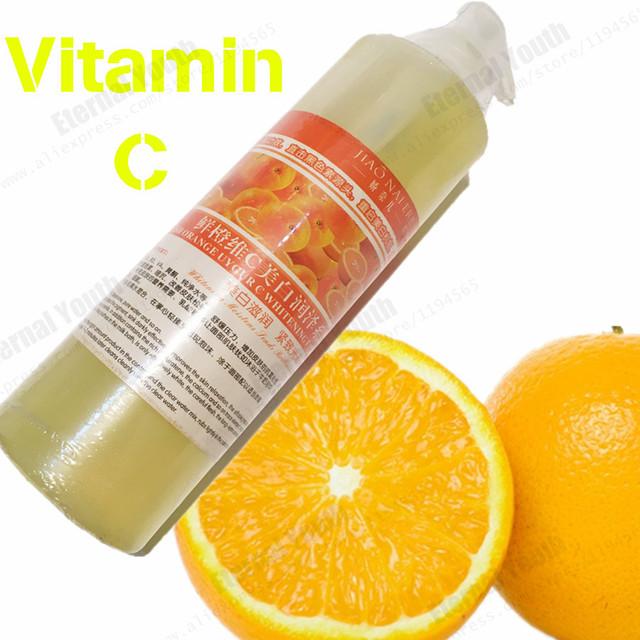A GRANEL 500 ML Fresca Naranja Vitamina C VC Esencia Blanqueamiento Agua Máscara Facial Suero Cuidado de la Belleza