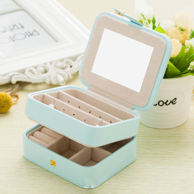 6a6a114daef4 Aliexpress.com : Buy Small Travel Accessories Case Jewelry Storage Casket  PU Leather Ring Earring Organizer Bag Gift for Wedding Birthday from ...