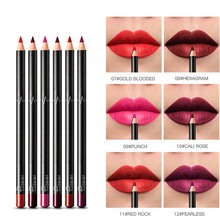 6 Color Sexy Matte Lip Liner Set Red Velvet Lip Nude Beauty Makeup Lipstick Cosmetic Waterproof Durable Long lasting Lip Pencil bell precision stay on lip liner 6 цвет 6 variant hex name 89655f