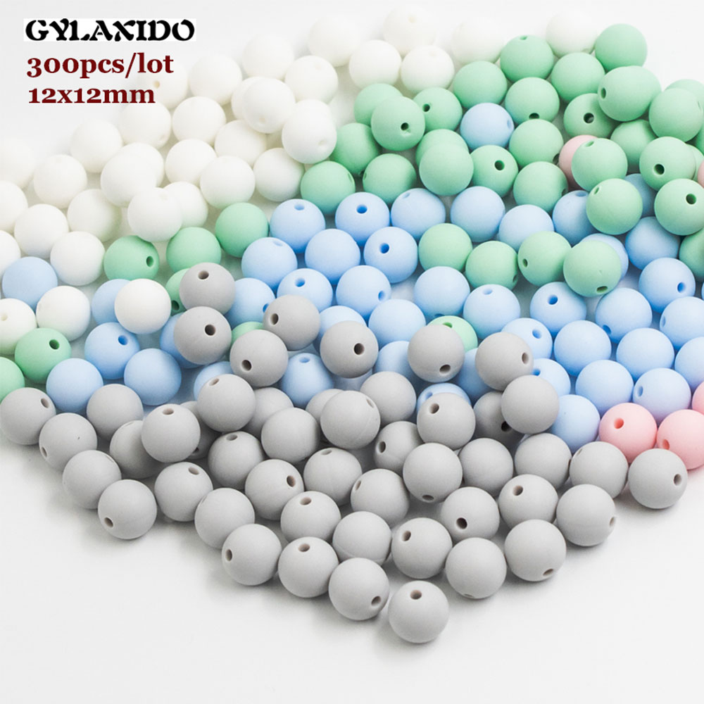 300Pc 12mm Round Silicone Beads Baby Teething Bead Perle Silicone Dentition Food Grade Siliconen Kralen Mordedor Baby Products
