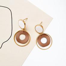 Metal earrings metallic simple sense is exquisite and unique fashion personality wholesale jewelry