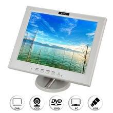 EYOYO 12″ FHD LCD Monitor VGA Video Audio BNC USB HDMI for PC FPV CCTV Digicam DVR CCD Digicam FPV Banking White