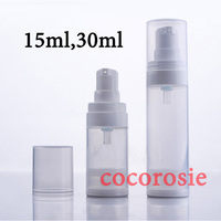 24pcs/lot 15ml 30ml Empty Clear Airless Pump Bottle Cosmetic Container Vacuum Bottles High Quality Airless bottles