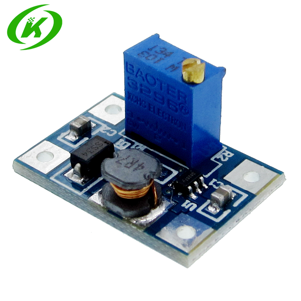 DC-DC SX1308 Step-UP Adjustable Power Module Step Up Boost Converter 2-24V to 2-28V 2A 1pcs 1500w 30a dc dc cc cv boost converter step up power supply charger adjustable dc dc booster adapter 10 60v to 12 90v module