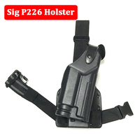 Tactical Right Leg Thigh Holster with Magazine Pouch For Sig Sauer P226 Gun Holster Right Hand Quick Drop Tactical Gun Holster