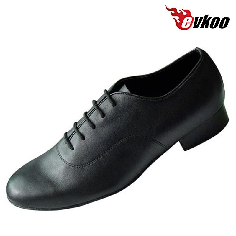 Evkoo Танцы профессионального современного Обувь для танцев 2.5 см каблук человека, сделанного Пояса из натуральной кожи патент или нубука с вы...