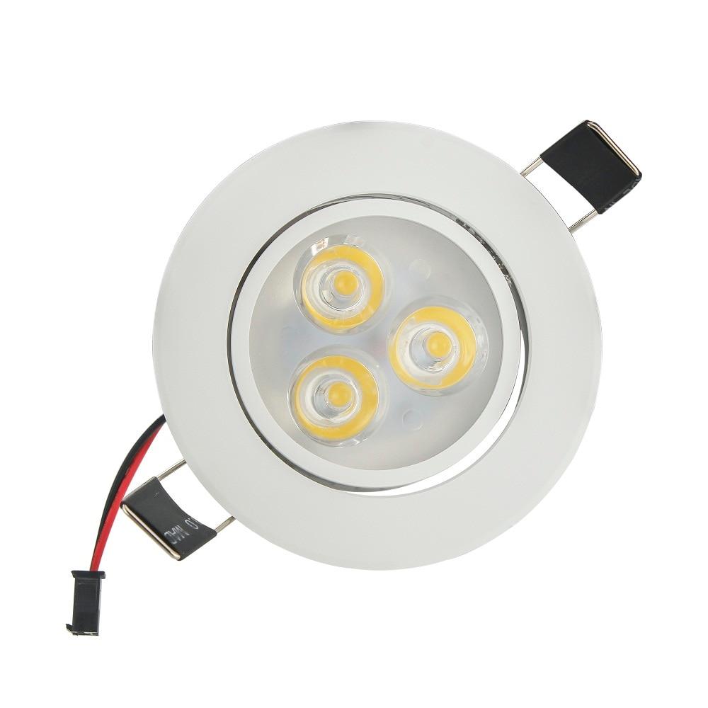 Лидер продаж CREE 3 Вт 6 Вт светодиодные светильники затемнения теплый белый холодный белый встраиваемые светодиодные лампы пятно света AC85-265V