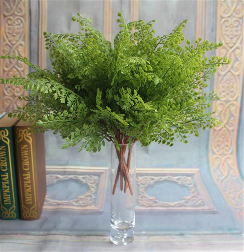 5pcs Simulated Ginkgo Biloba Artificial Greenery Evergreen Plant