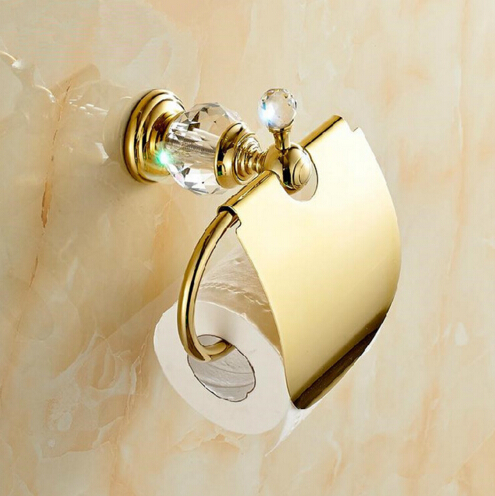 High Quality Luxury Crystal Decoration Paper roll Holder Gold Brass Toilet  Paper Holder Waterproof Tissue BoxCompare Prices on Toilet Paper Roll Holder  Online Shopping Buy  . 24k Gold Toilet Paper. Home Design Ideas