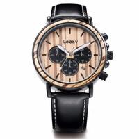 Relógios dos homens da moda relógio de pulso Dos Homens de luxo estilo retro madeira rara watchman relógio relógio Relogio de madeira natural.|Relógios de quartzo| |  -