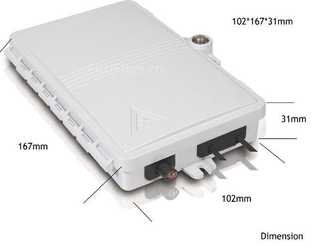FTTH 2 noyaux boîte de terminaison de fibres 2 ports 2 canaux prise de fibres fibre optique diviseur boîte intérieure extérieure ODN