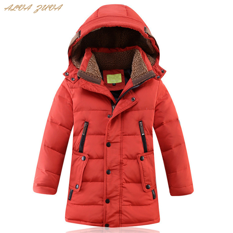 ALVA ZUVA 2018 Winter Children White Duck Down Jackets Teenager Kids Thickening Warm Coats For Boys 6-14 Years Outerwear Cyy145 a15 girls jackets winter 2017 long warm duck down jacket for girl children outerwear jacket coats big girl clothes 10 12 14 year