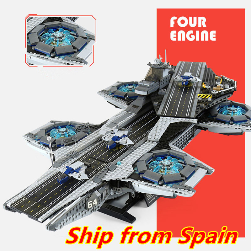 07043 Super Heroes The Shield Helicarrier Model Building Blocks Bricks Toys Compatible With 76042 Boy's Christmas Gifts