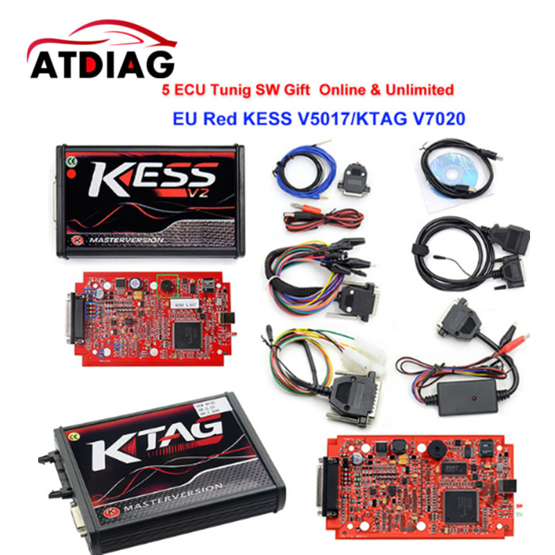 2018 Newest Ktag K TAG V7.020 KESS V2 V5.017 SW V2.23 Master ECU Chip Tuning Tool K-TAG 7.020 Online Operate Better KTAG V7.003 professional 13 in 1 piano tuning maintenance tuning tool kit with portable pu leather case easy operate