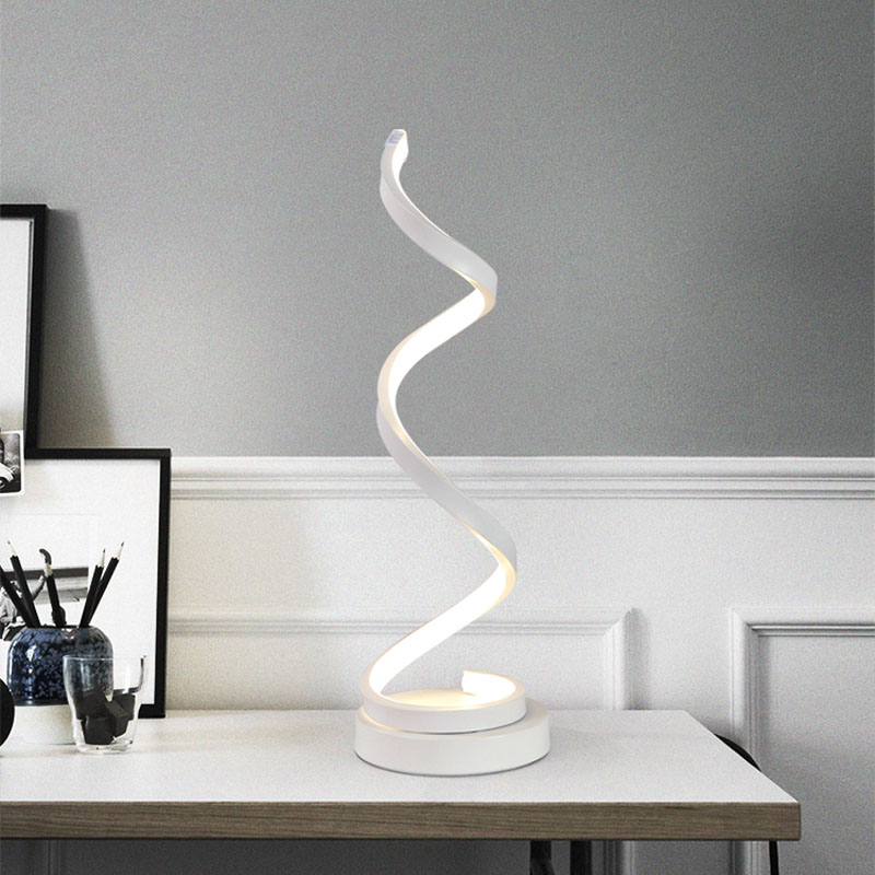 . US  26 42 50  OFF Modern 20W LED Table Lamp Bedroom Reading Desk Light  Bedside Lamp Study Eye Protect US EU Plug Dimable in LED Table Lamps from