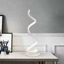 Современный светодио дный 20 Вт LED настольная лампа спальня чтение настольная свет прикроватная лампа исследование глаз защиты США/ЕС Plug Dimable