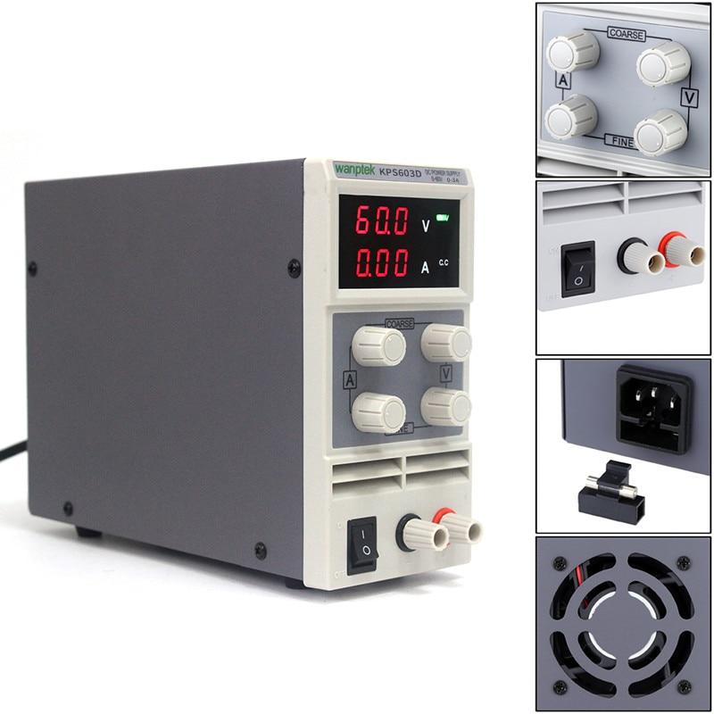 KPS603D Switching power supply for laborator, 60V3A 110V-220V Single Channel adjustable Digital mini DC power supply rps3020d 2 digital dc power adjustable power 30v 20a power supply linear power notebook maintenance