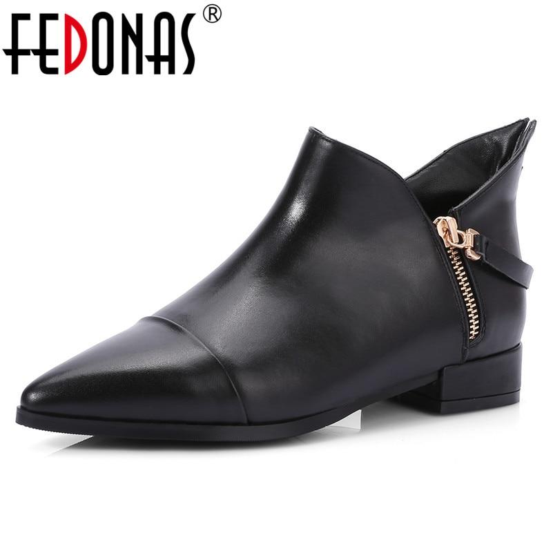Grundlegende Leder Heels Fedonas Echtes Jahreszeiten Frauen Pumps High Vier F Schuhe Neue b6ygYfmv7I