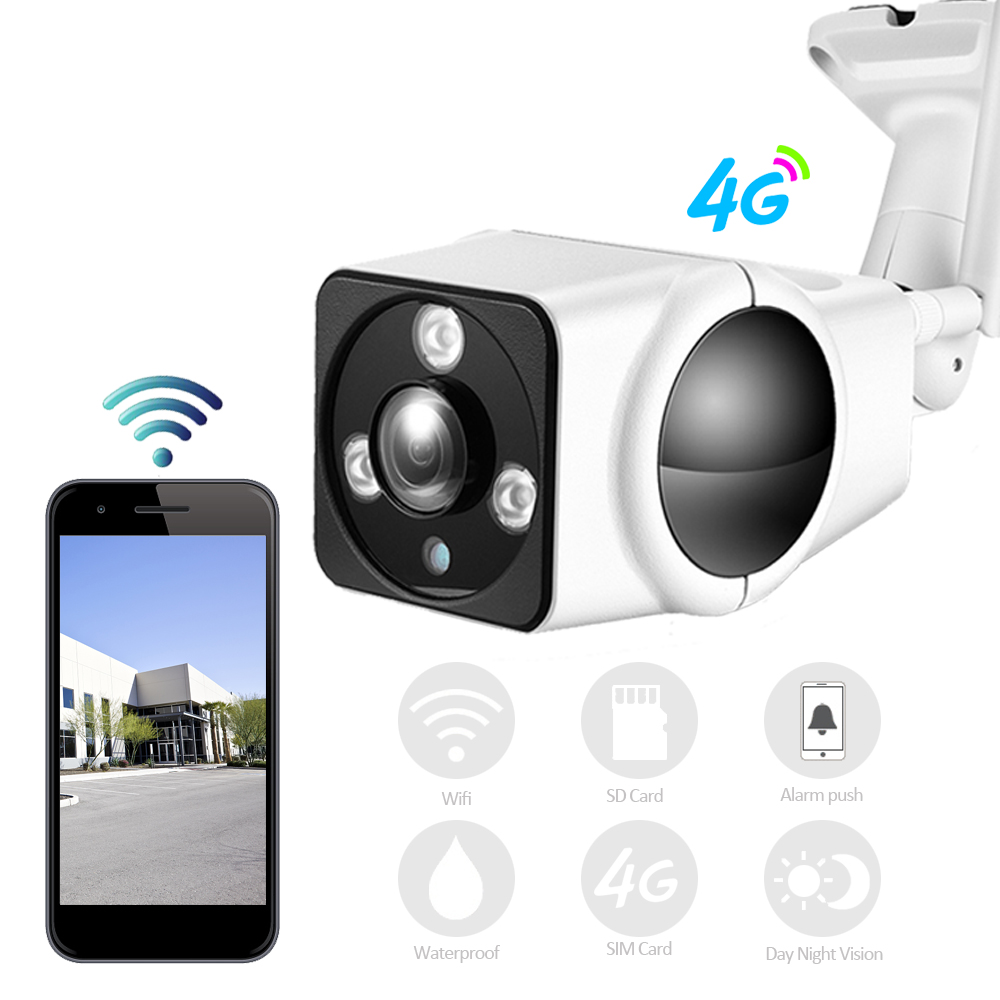 Full HD 1080P HD Bullet IP Camera Wireless GSM 3G 4G SIM Card IP Camera Wifi Outdoor Waterproof cctv Camera IR Night Vision P2P