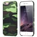 Para iphone 7 camo macio coque pu + acrílico sacos de telefone celular para apple iphone 5 5S SE 6 6 s 7 Plus Caso Shell Fundas Capa de Camuflagem