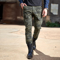 Europe and The United States Selling Men's Cotton Pants Size Multi Pocket Camouflage Military Camouflage  Pants Mens Overalls.