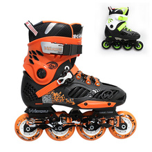WEIQIU WX Inline Skate Orange Adult's Roller Skates Shoes PU Inline Skates Professional Sneakers For Street Skating Men Women