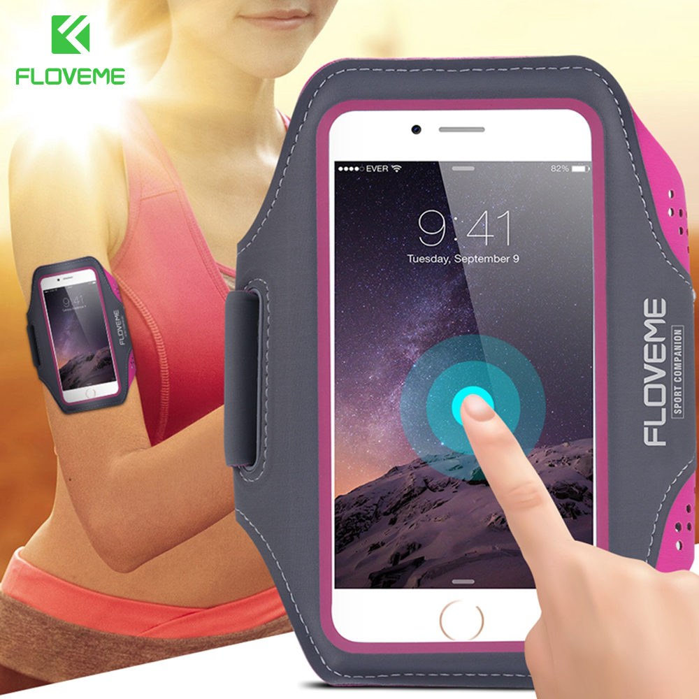 FLOVEME Durable Sports Running Waterproof Leather Arm Band Case For Samsung Galaxy S3 S4 S5 S6 edge s7 edge s6 Edge Plus S8