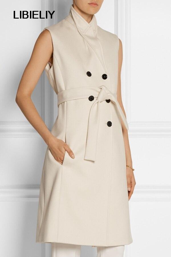 Nouveau Femme Style Manches Laple Mode Élégant Veste Automne Gilet Laine Entaillé Blazer Manteau Long Femmes Taille Hiver r8agHqWwr
