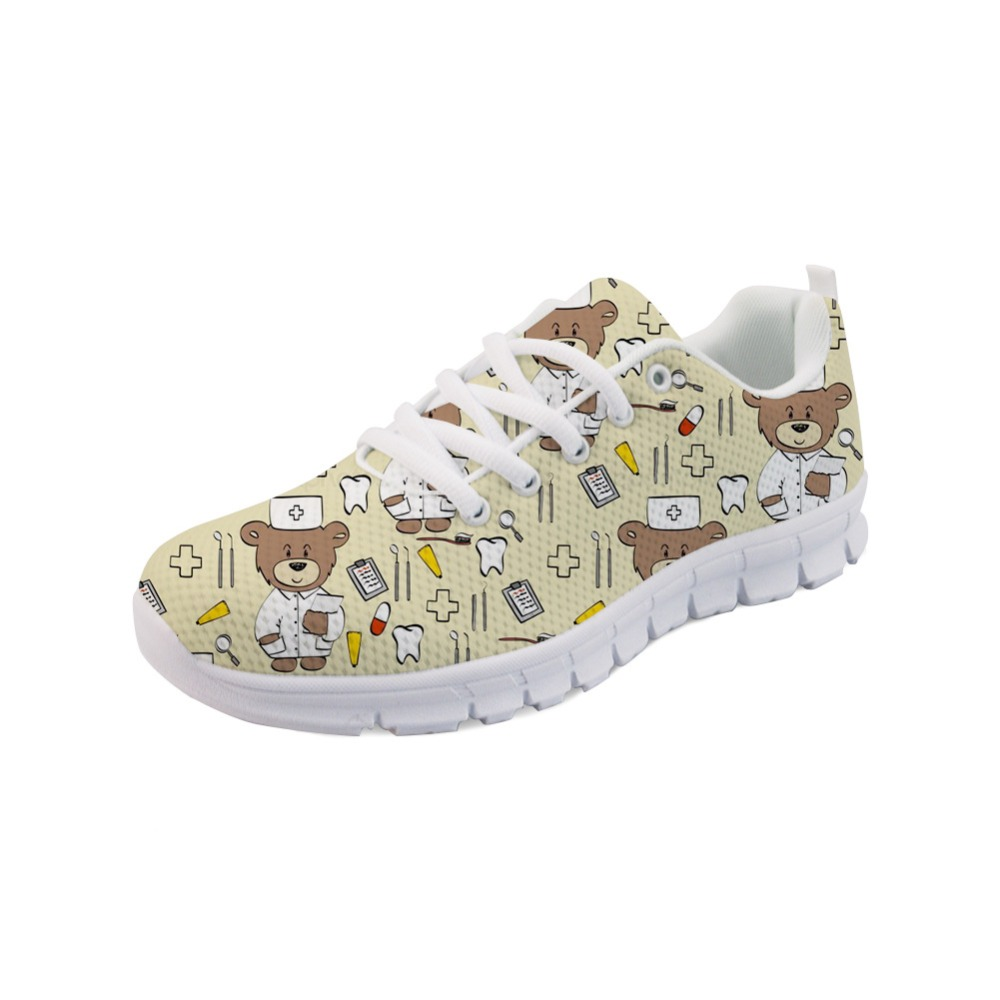Noisydesigns 2019 New Medicine Nurse Flats Shoes Women 39 s Shoes Flat Sneakers for Teenage Girls Ladies Shoes Sport Girl AQ