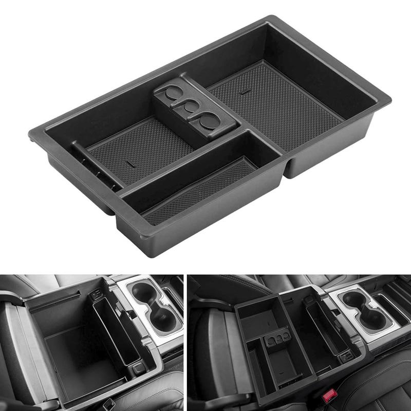 Black Organizer Tray Center Console Storage Box For Tahoe Yukon XL Silverado