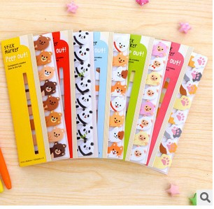 Korea style Stationery Writing Pads cute animal design mini message post Memo pad 8 Pcs/lot wholesale Office & School Supplies