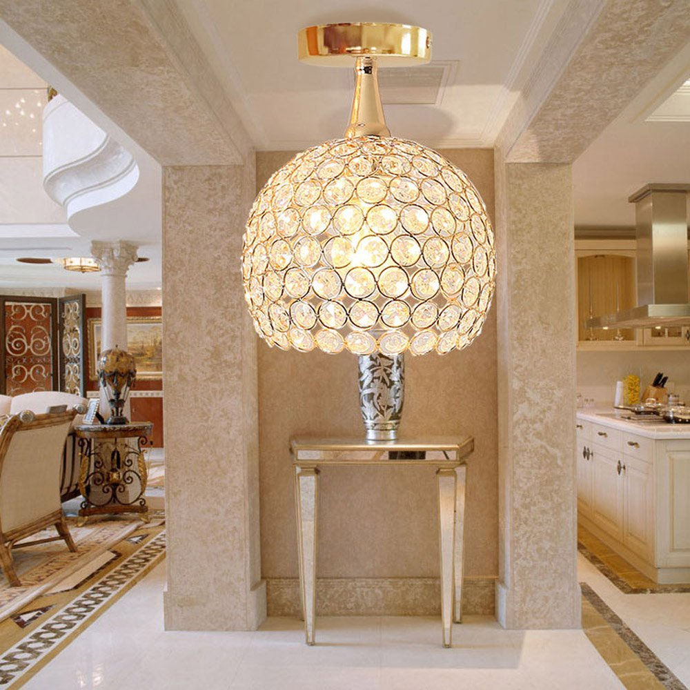 Modern Crystal Bedroom Ceiling Light Hallway Corridor Fashion Ceiling Lamp Contracted Gallery Ceiling Lighting FixturesModern Crystal Bedroom Ceiling Light Hallway Corridor Fashion Ceiling Lamp Contracted Gallery Ceiling Lighting Fixtures