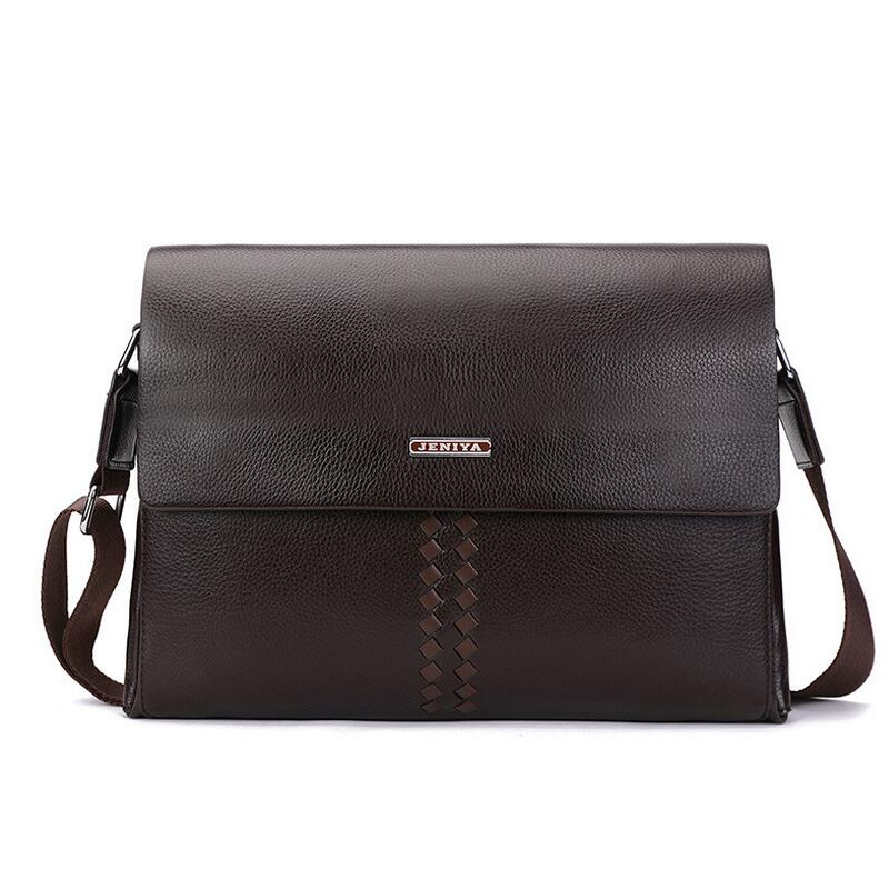Fashion Genuine Leather Men Bag Men Messenger bags Business Men's Leather Shoulder Bag Man Crossbody Bags Casual Handbag genuine leather men bag fashion messenger bags shoulder business men s briefcase casual crossbody handbags man waist bag li 1423