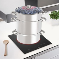 11 Quart Stainless Steel Fruit Vegetable Juicer Steamer Pot Cookware for Gas or Eletric Range KC46721