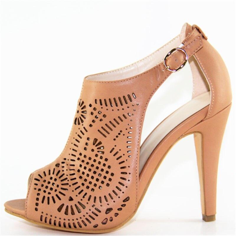Femmes sandales mode talons hauts fermoirs femmes chaussures respirantes parti sexy sandales pour femme bouche ouverte grande taille x161020