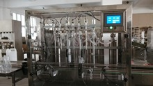 automatic detergent filling capping labeling line,6 head 5L hand washing/sanitizer pack line_ piston filling machinery CE