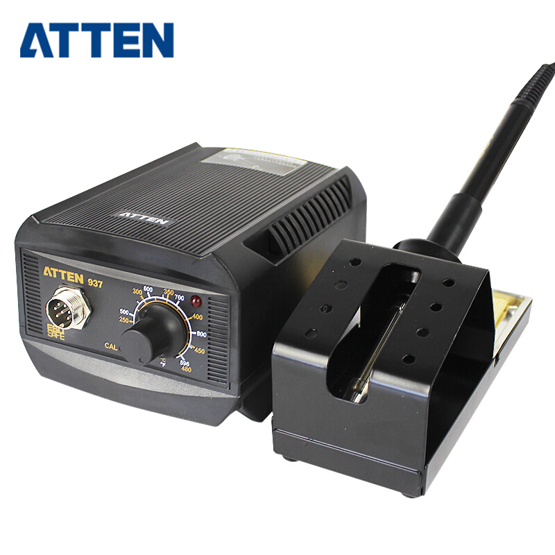 ATTEN AT-937 110V/220V 50W Temperature control anti-static Rework Soldering Station 220v 50w yihua 937 soldering station with extra free hakko a1321 ceramic heater