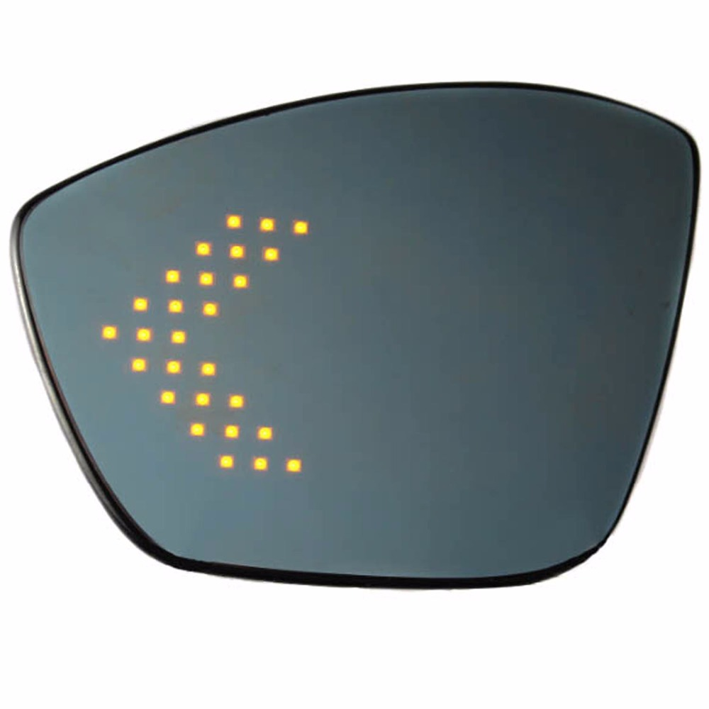 Side wing rear view <font><b>mirror</b></font> for <font><b>peugeot</b></font> 2008 308 <font><b>408</b></font> with blue wide angle led turn signal electric heating <font><b>mirror</b></font> glass image
