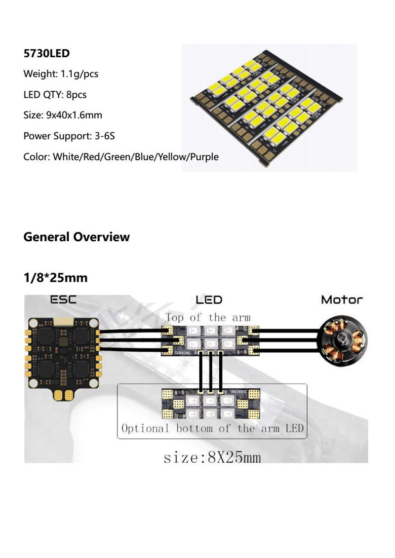 4pcs Lot 5730 Fpv Led Cl Racing Llc Built In Serial 8pcs Support Otto Headset Wiring Diagram Drone Lights Board 111v