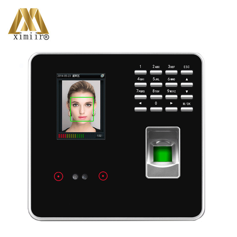 Facial Fingerprint Employee Time Attendance ZK FA200 TCP/IP Face Time Attendance System With Free Software