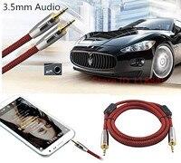 Jack estéreo de 3.5mm Macho de Extensión de Audio Auxiliar Cable Para Altavoces Del Automóvil auriculares iphone MP3 AUX Cable de Alambre Cables 1 m 2 m 3 m 5 m 8 m