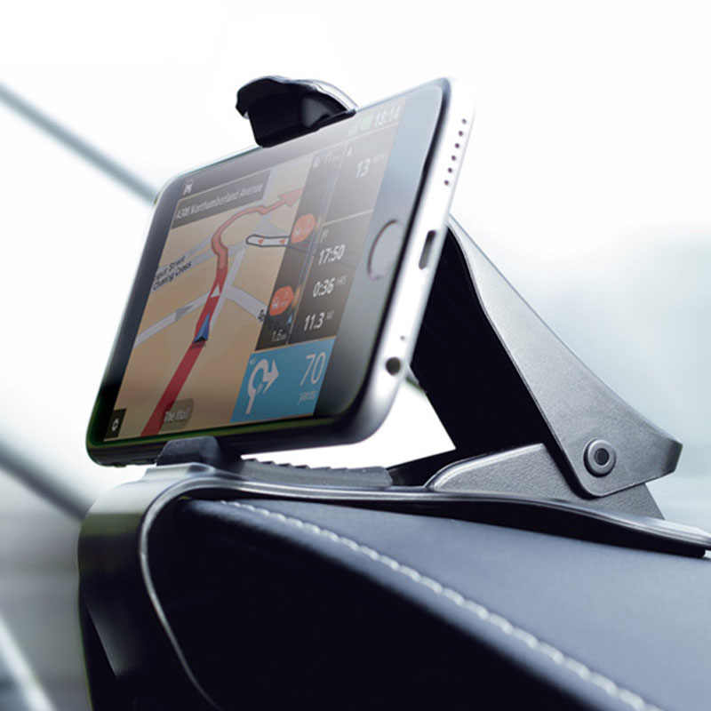 6.5 inch Dashboard Car Phone Holder Easy Clip Mount Stand Car Phone Holder GPS Display Bracket Classic Black Car Holder Support