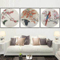 Diamond Painting Flowers Beauty Birds Round Handwork DIY Mosaic Chinese Style Study Room Embroidery Diamond Painting Full