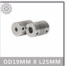 1 stücke OD 19x25mm CNC Flexible Kupplung Welle 5mm bis 8mm Koppler Encode-anschluss 5 /6/6,35/8/10mm Motor Jaw Wellen Koppler.(China)