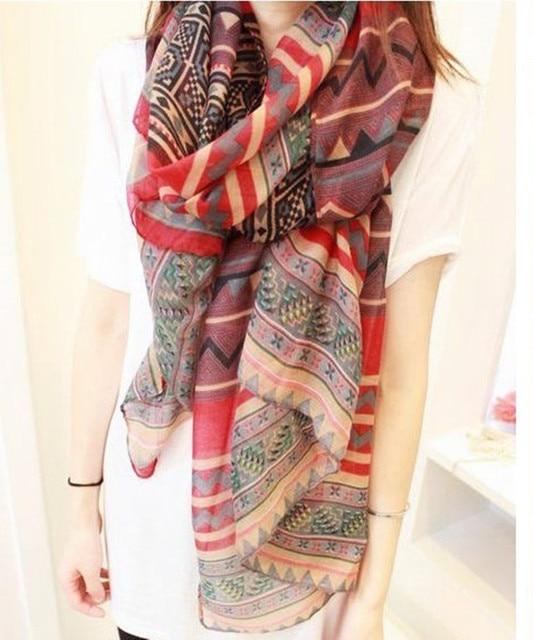 New Fashion Trendy Bohemian Women's Long Print Scarf Wrap Ladies Shawl Girl Large Pretty scarves 2016 new arrive hot sale