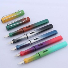 CHOUXIONGLUWEI plastic new gift EF student Gradient colour Nib Fountain Pen