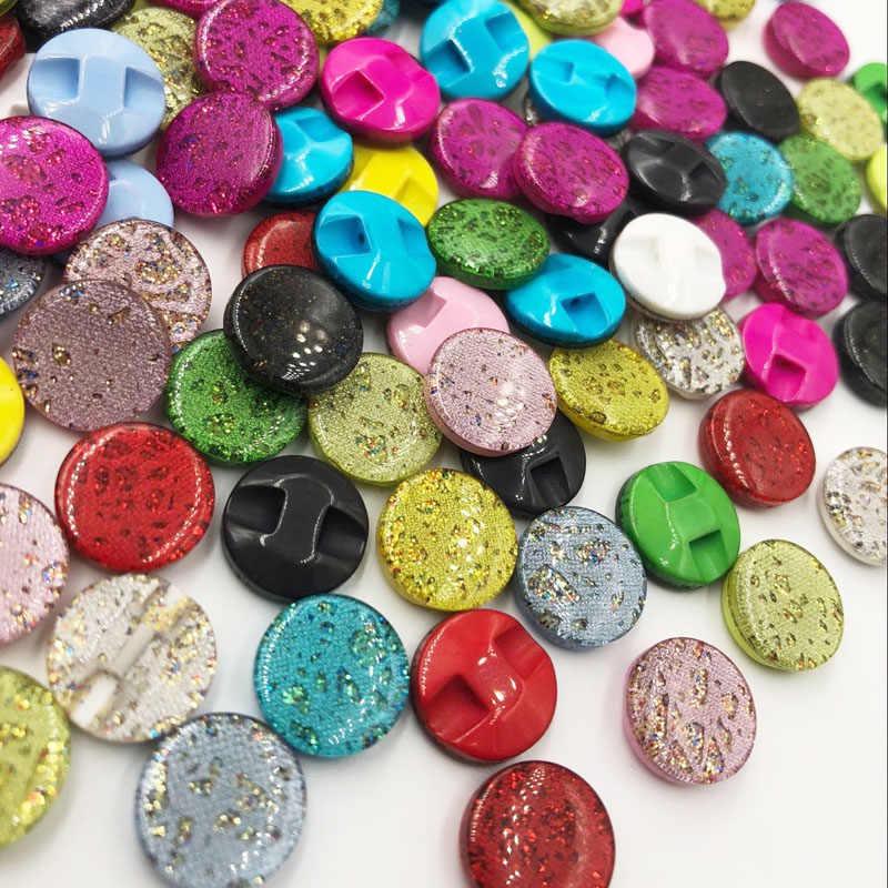 100 шт 12 мм хвостовик смолы пуговицы; рубашка на пуговицах аксессуары для шитья смешанные цвета DIY ремесла PT169