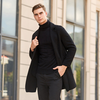 2018 new style coats men Business Double sided woolen casual fashion Classic trench coat men,men's Cashmere Windbreaker